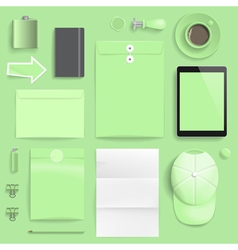 branding mockup lime vector image