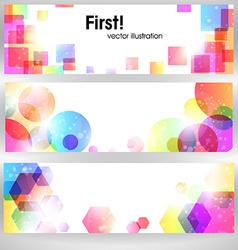 Bright Abstract Header Set for Design vector