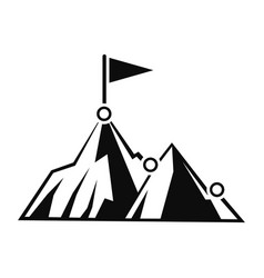 Business mountain target icon simple style vector
