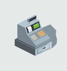 Cash machine isometric vector