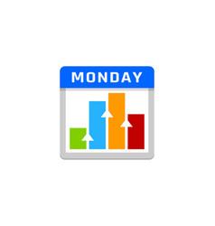 Chart calendar logo icon design vector