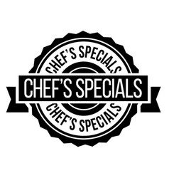 chef specials stamp on white vector image