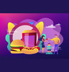 Child overweight concept vector
