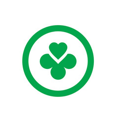circle with clover logo icon vector image