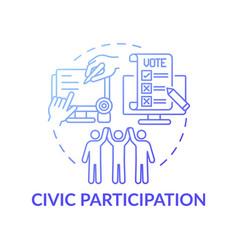 Civic participation dark gradient blue concept vector