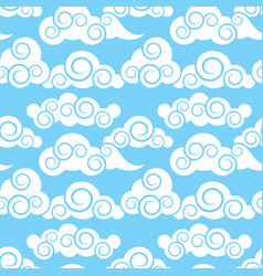 Clouds in japanese and chinese style vector