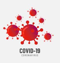 Corona virus design background vector