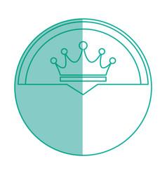 Crown royalty symbol vector