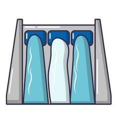 Dam icon cartoon style vector