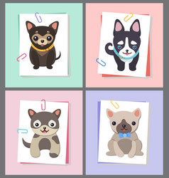 Dogs with good mood collection vector