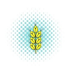 Ear of of wheat icon comics style vector image