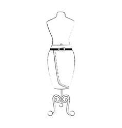 Elegant skirt for woman in manikin vector