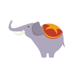 Elephant circus show vector
