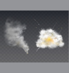 explosion smoke blast realistic 3d vector image