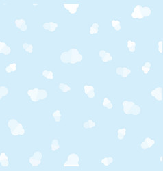 flat clouds in sky seamless pattern vector image