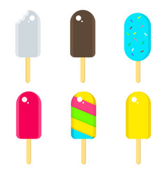 flat ice cream delicious sweet frozen vector image