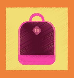 flat shading style icon school bag vector image