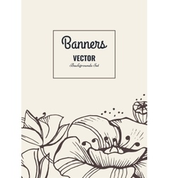 Flower template card vector image