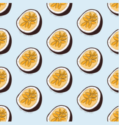 food exotic maracuya pattern organic vegetarian vector image