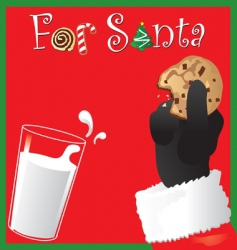 for santa vector image