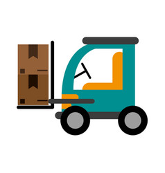 Forklift with boxes icon image vector