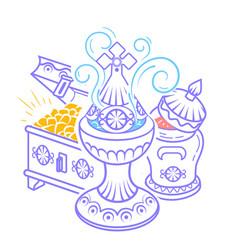 Frankincense myrrh and gold magi vector