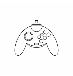 Gamepad icon outline style vector image
