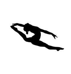 Girl gymnast split in jump gymnastics vector