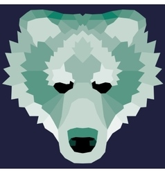 Green low poly bear vector image