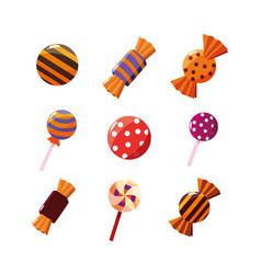 halloween set candies icons vector image