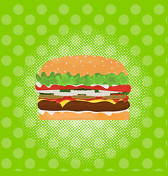 hamburger street festival fast food menu seamless vector image