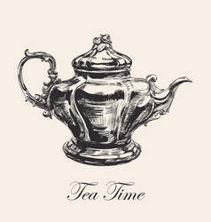 hand drawn sketch teapot vector image