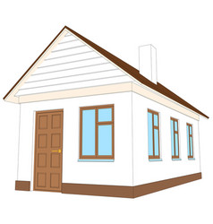 House with brown door vector