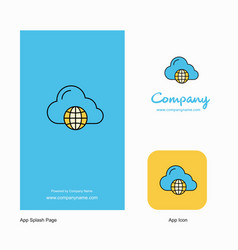 internet company logo app icon and splash page vector image