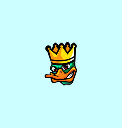 King duck logo vector