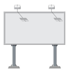 large blank empty white billboard screen vector image