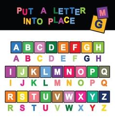 Letter cartoon vector