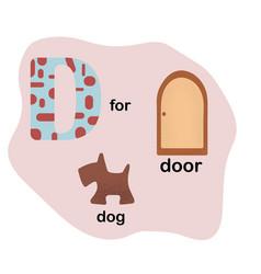 letter d for children alphabet vector image