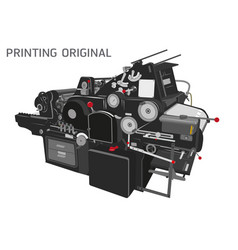Letterpress printing technology vector