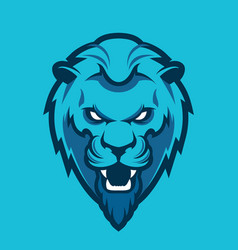Lion head sport mascot vector