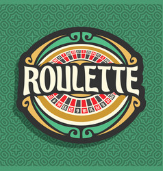 Logo for roulette gamble vector