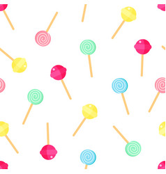 lollipop pattern sweet candy background cartoon vector image