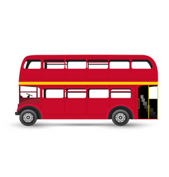 london red bus isolated on white background vector image