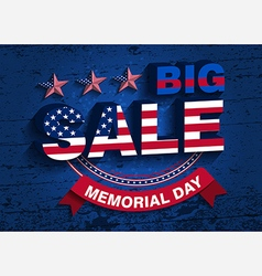 Memorial day sale vector
