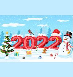 Merry christmas and new year holiday greeting card vector