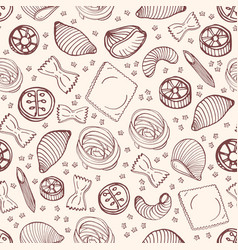monochrome seamless pattern with various types of vector image