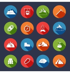 mountain icons flat vector image