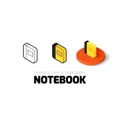 Notebook icon in different style vector image