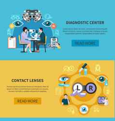 oculist eye care banners vector image