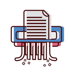 office paper shredder machine design vector image